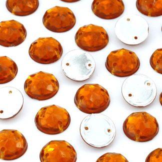 Dżet okrągły z dziurkami 10 mm (bursztynowy) - 2000 szt. najtaniej