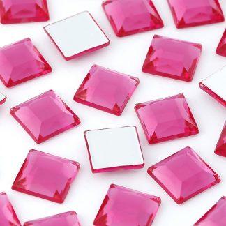 Dżety kwadratowe 10 x 10 mm (różowy ciemny) - 1000 szt. najtaniej