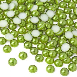 Półperełki okrągłe 8 mm (zielony) - 2000 szt. najtaniej