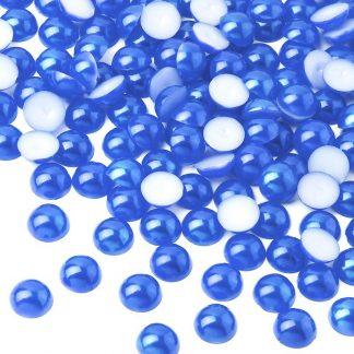 Półperełki okrągłe 8 mm (niebieski) - 2000 szt. najtaniej