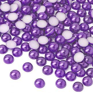 Półperełki okrągłe 10 mm (fioletowy) - 2000 szt. najtaniej