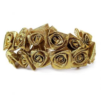 Róże satynowe (złote) - 36 szt. najtaniej