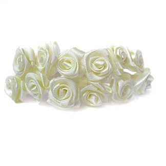 Róże satynowe (ecru) - 36 szt. najtaniej