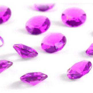 Diamentowe konfetti 12 mm (różowe ciemne) - 100 szt. najtaniej