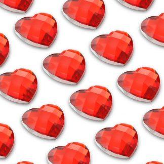 Cyrkonie serca 10 mm (czerwony) - 50 szt. najtaniej