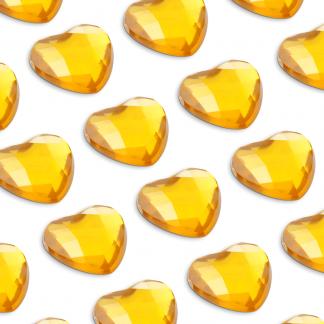 Cyrkonie serca 6 mm (złoty) - 100 szt. najtaniej