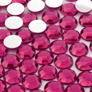 Dżet okrągły 14 mm (różowy ciemny) - 500 szt. najtaniej