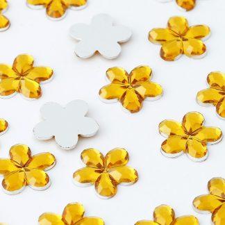 Dżety kwiatki 10 mm (złoty) - 1000 szt. najtaniej