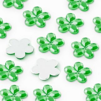 Dżety kwiatki 10 mm (zielony) - 1000 szt. najtaniej