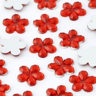 Dżety kwiatki 10 mm (czerwony) - 1000 szt. najtaniej