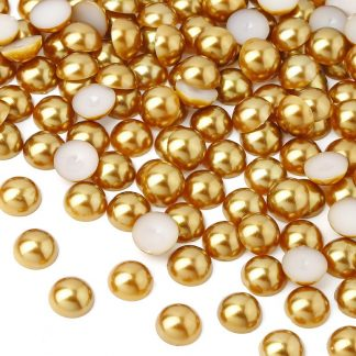 Półperełki okrągłe 8 mm (złoty) - 2000 szt. najtaniej