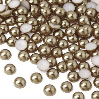 Półperełki okrągłe 10 mm (brązowy) - 2000 szt. najtaniej