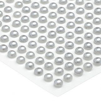 Półperełki okrągłe 4 mm (srebrny) - 176 szt. najtaniej