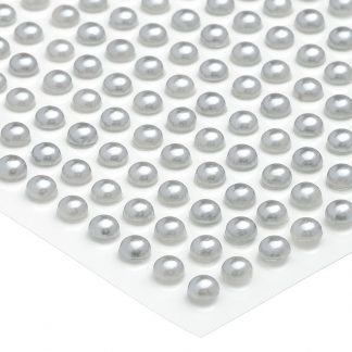 Półperełki okrągłe 6 mm (srebrny) - 100 szt. najtaniej