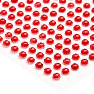 Półperełki okrągłe 5 mm (czerwony) - 100 szt. najtaniej