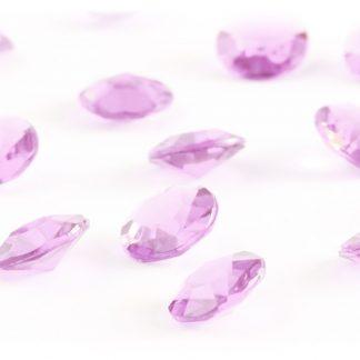 Diamentowe konfetti 12 mm (różowe jasne) - 100 szt. najtaniej