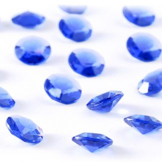 Diamentowe konfetti 12 mm (niebieskie) - 100 szt. najtaniej