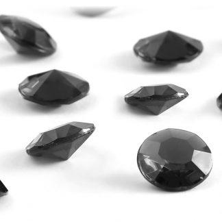 Diamentowe konfetti 12 mm (czarne) - 100 szt. najtaniej