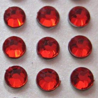 Cyrkonie okrągłe 5 mm (czerwony) - 100 szt. najtaniej