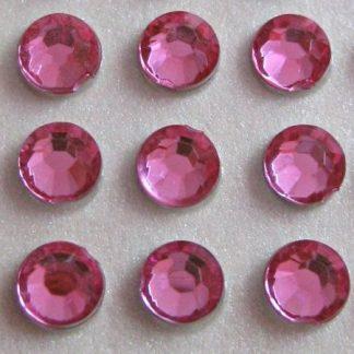 Cyrkonie okrągłe 5 mm (różowy) - 100 szt. najtaniej