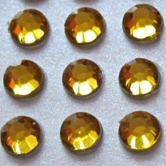 Cyrkonie okrągłe 5 mm (złoty) - 100 szt. najtaniej