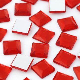 Cyrkonie kwadratowe 4 x 4 mm (czerwone) - 176 szt. najtaniej