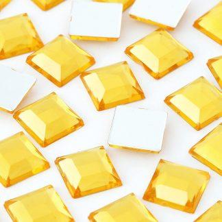Cyrkonie kwadratowe 4 x 4 mm (złote) - 176 szt. najtaniej
